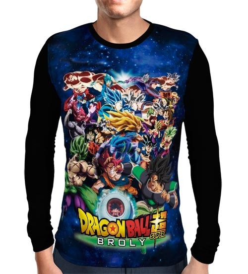Camisa Manga Longa Fight Forms- Dragon Ball Super