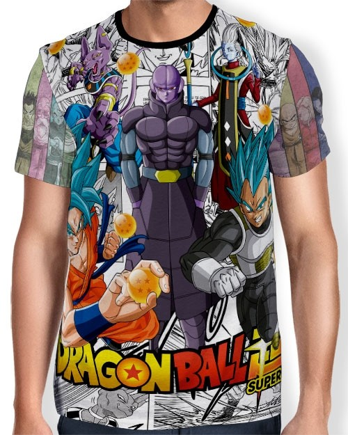 Camisa Full Print - Manga Super Gods Dragon Ball