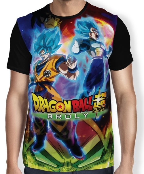 Camisa Full The Movie Broly - Dragon Ball Super