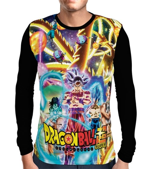 Camisa Manga Longa Torneio do Poder Modelo 2 - Dragon Ball Super