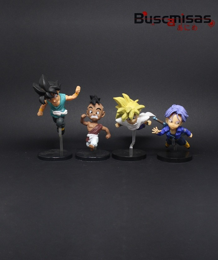Kit 4 Action Figures Mini Dragon Ball Kids
