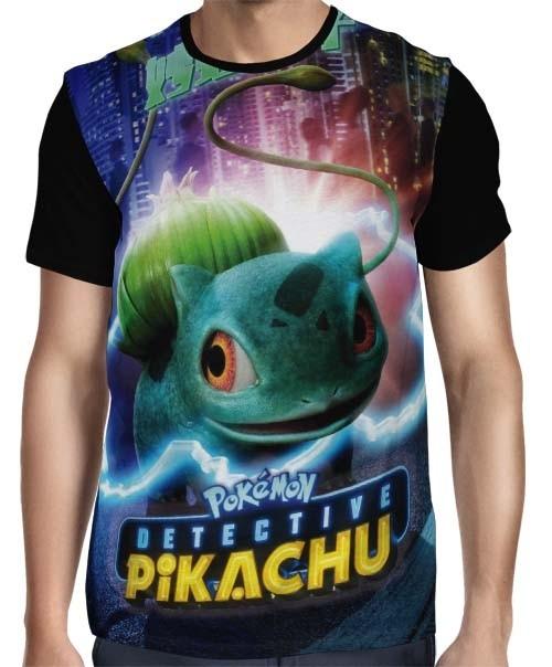 Camisa Full Bulbassauro - Pokemon Detetive Pikachu