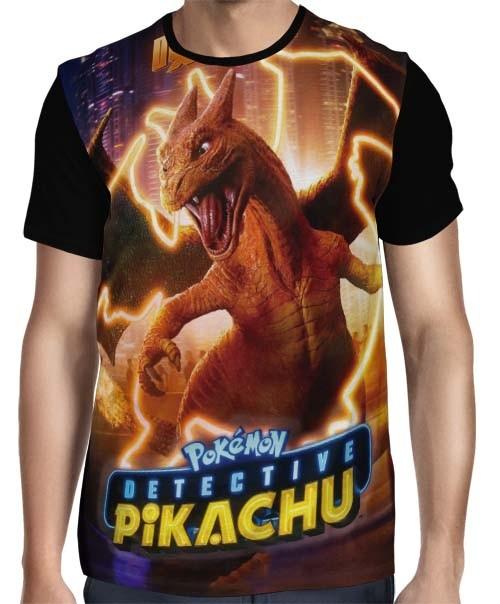 Camisa Full Charizard - Pokemon Detetive Pikachu