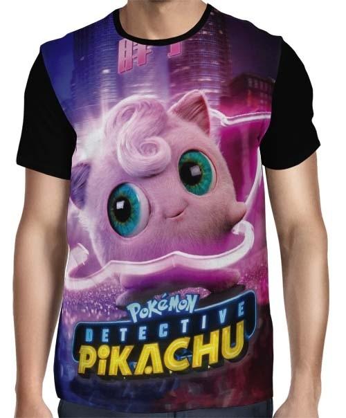 Camisa Full Jigglypuff - Pokemon Detetive Pikachu