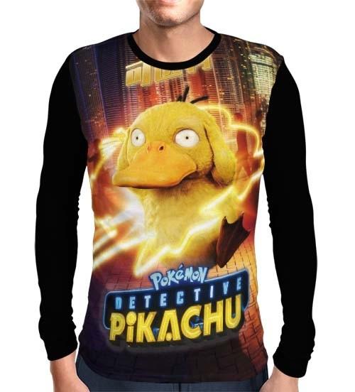 Camisa Manga Longa Psyduck - Pokemon Detetive Pikachu