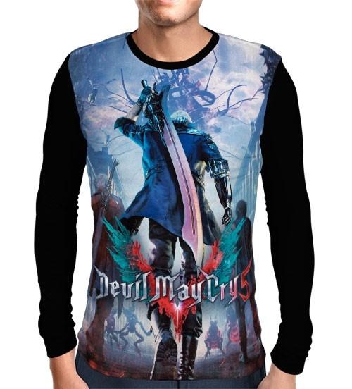 Camisa Manga Longa Devil May Cry 5