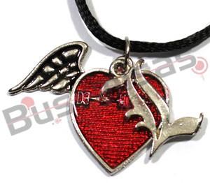 DN-44 - Colar Coração Vermelho