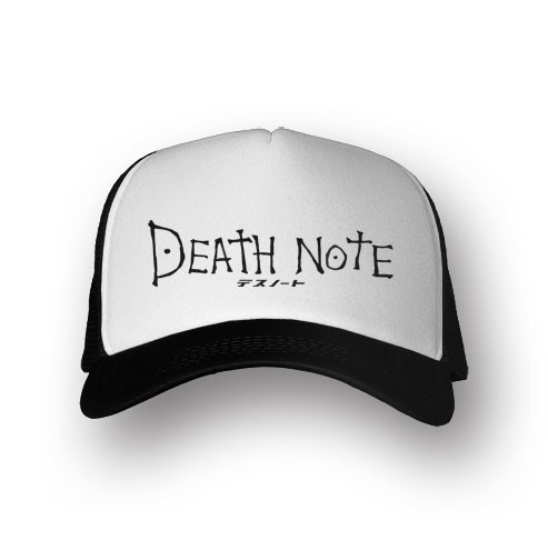 Boné Trucker Death Note - Preto/Branco