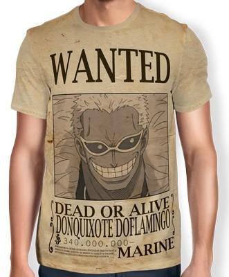 Camisa Full Print Wanted DONQUIXOTE DOFLAMINGO - One Piece