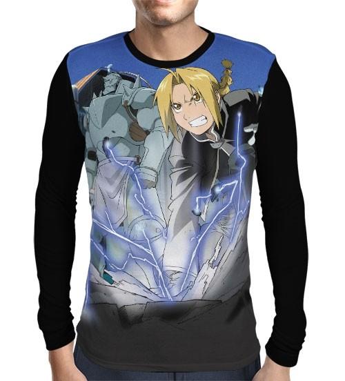 Camisa Manga Longa Elric Powers - Fullmetal Alchemist