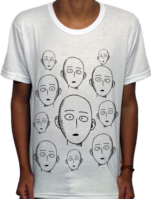 Camisa SB - Faces Saitama - One Punch Man