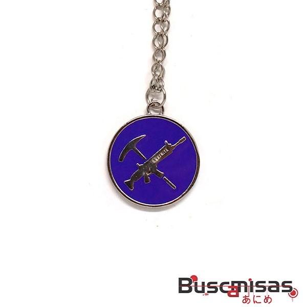 Colar Fortnite - Medalha Picareta e Arma Modelo 01