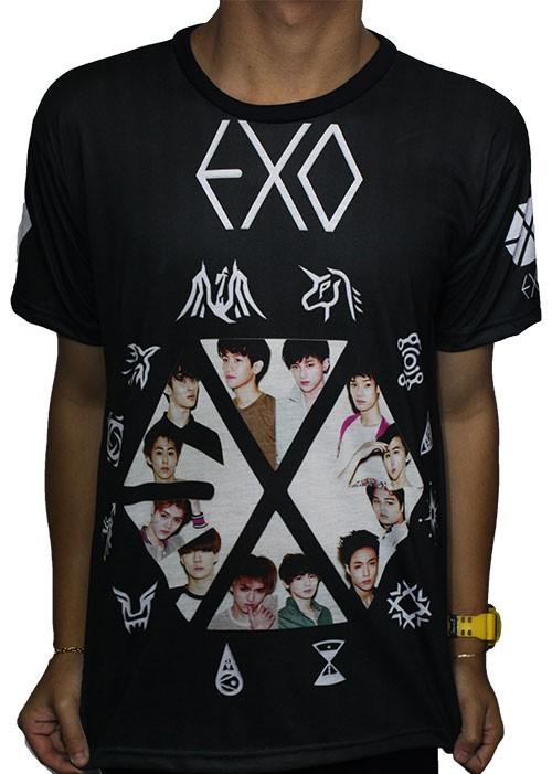PRÉ-VENDA Camisa Full Print - K-POP EXO