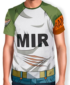 Camisa Full Print Uniforme - Androide 17 - Dragon ball