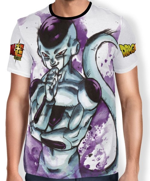 Camisa Full Art Brusher Freeza - Dragon Ball Super