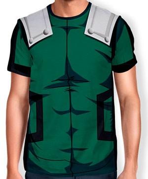 Camisa Full Print Uniforme - Deku Midoriya - Boku no Hero
