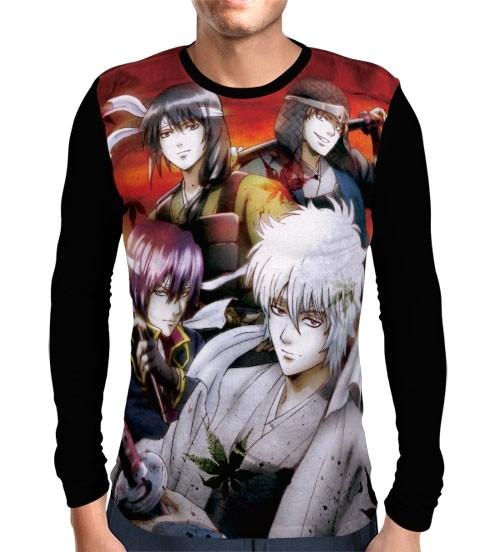 Camisa Manga Longa Gintama - Yorozuya yo Eien Nare