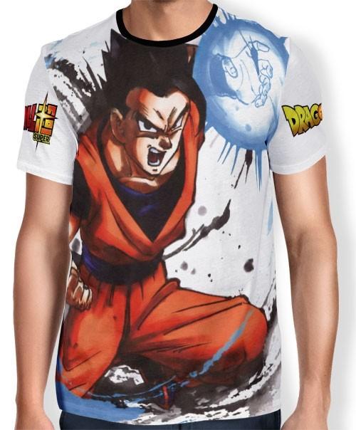 Camisa Full Art Brusher Goham - Dragon Ball Super