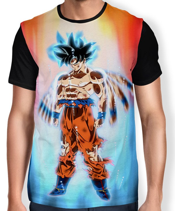 Camisa Full Limit Break Goku - Instinto Superior - Migatte No Gokui - Dragon Ball Super
