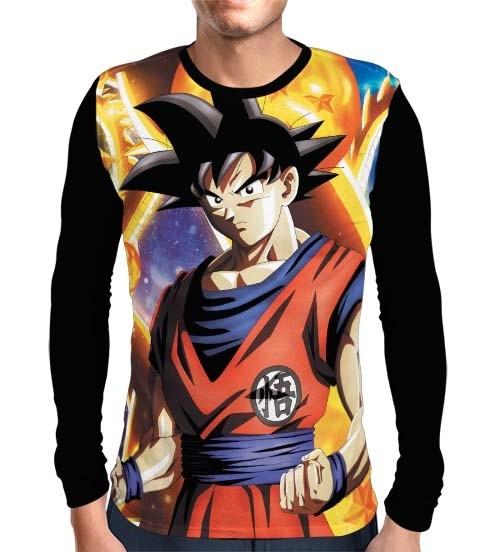 Camisa Manga Longa Ready Goku - Dragon Ball Super