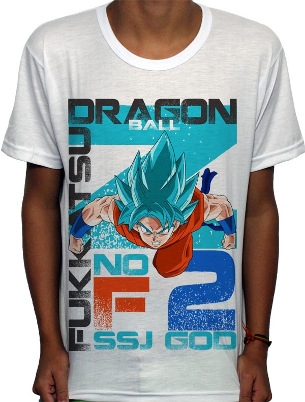 Camisa SB Goku God 2 - Dragon Ball Z