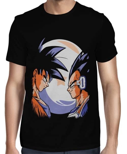 Camisa Full - Goku vs Principe Vegeta - Dragon Ball