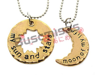 GOT-13 - Colar Duplo Sun and Moon Dourado - Game of Thrones