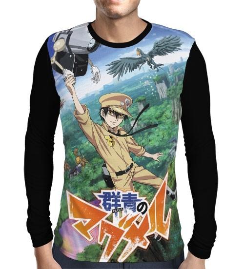 Camisa Manga Longa Gunjou no Magmel