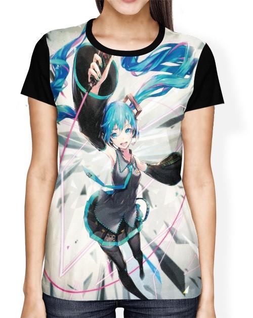 Camisa FULL Hatsune Miku - Vocaloid - Project Diva