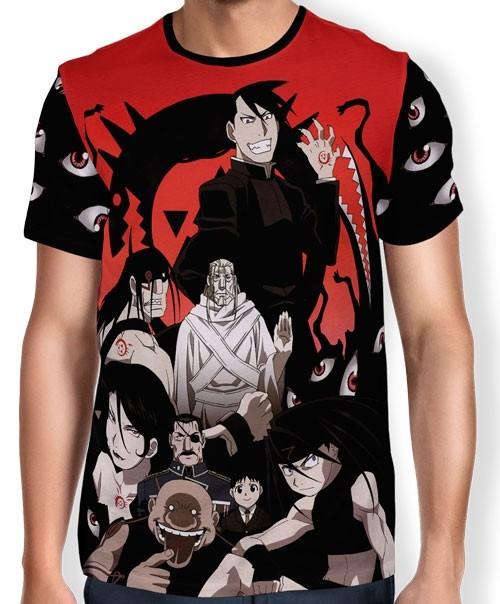 Camisa FULL Print Homunculos - Fullmetal Alchemist
