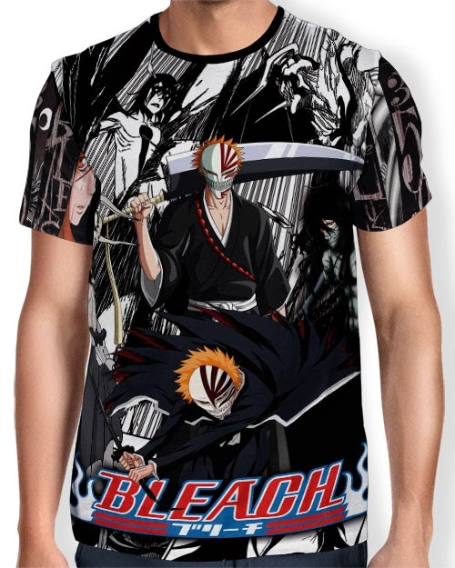 Camisa Full Print - Hollow Forms - Bleach
