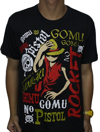 Camisa One Piece - Luffy Golpes