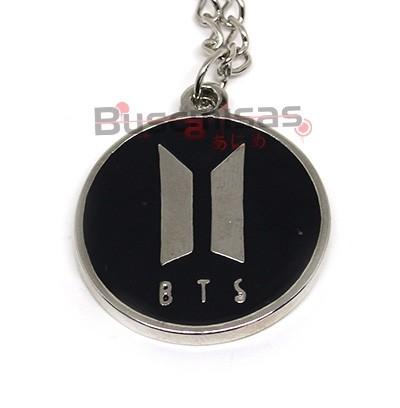 KPOP-43 - Colar Medalha Logo BTS (BangTan Boys) - K-Pop