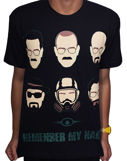 Camisa Faces - Breaking Bad