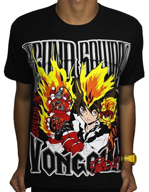 Camisa Hitman Reborn - Tsuna Vongola Gear