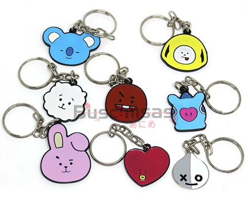 KIT-BTS01(CH) - Kit 8 Chaveiros Mascotes BTS - K-Pop