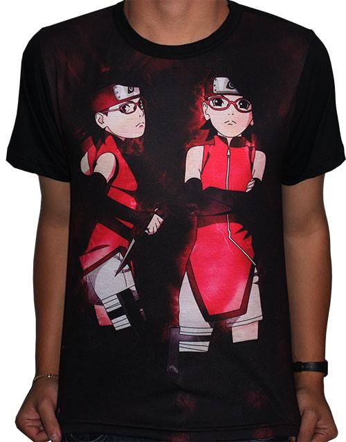 Camisa FULL Sarada Uchiha - Boruto Naruto