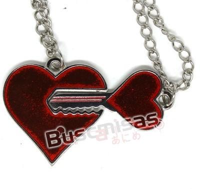 NRD-15 - Colar Duplo Coração e Chave