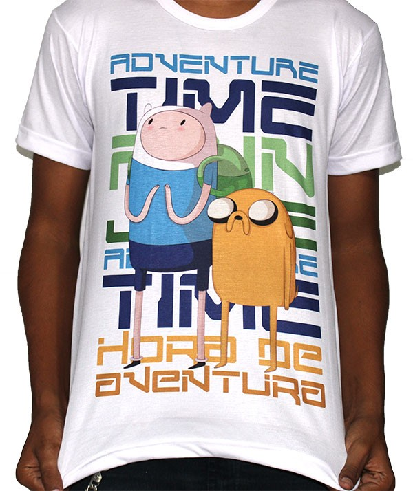 Camisa SB Finn e Jake - Adventure Time
