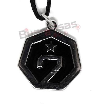 KPOP-29 - Colar Medalha Prata GOT7 - K-Pop