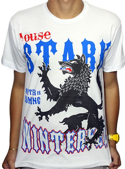 Camisa Stark Branca - Game of Thrones