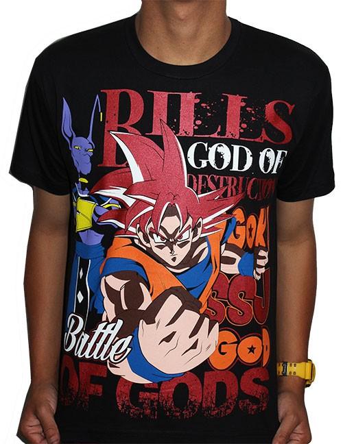 Camisa Dragon Ball - Goku Deus - Battle of Gods
