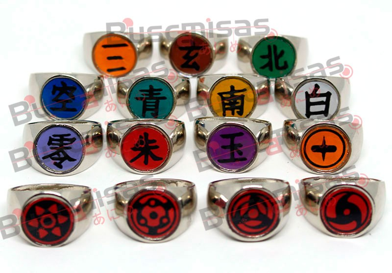 Kit NA-02 - Kit Anéis Premium Olhos e Akatsuki - 15 anéis