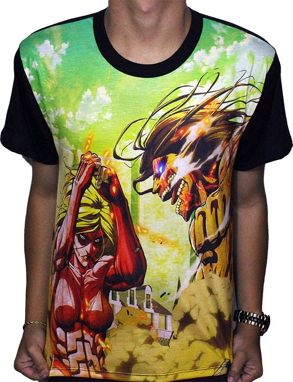 Camisa FULL Titãs - Shingeki no Kyojin