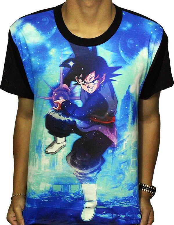 Camisa FULL Black Goku - Dragon Ball Super