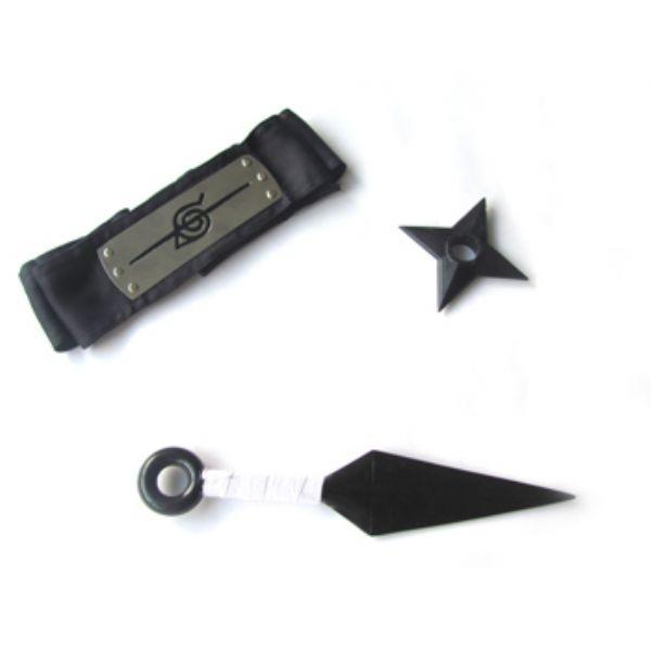 kit Itachi Simples - Kunai + Shuriken + Bandana Itachi
