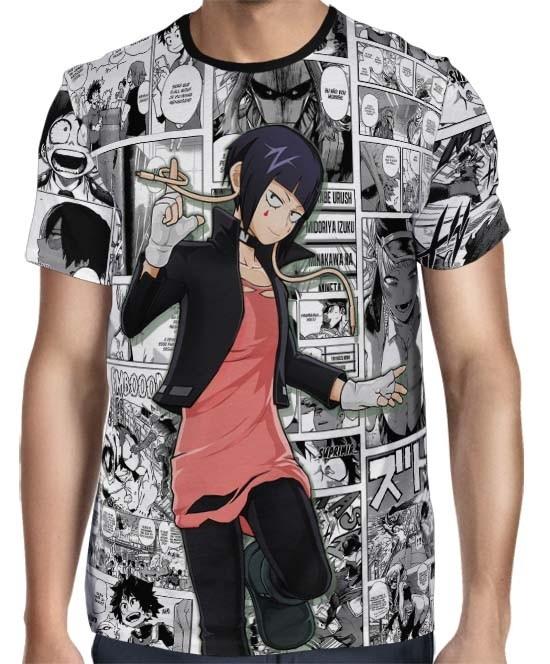 Camisa Full PRINT Mangá Jirou Kyouka - Boku No Hero Academia