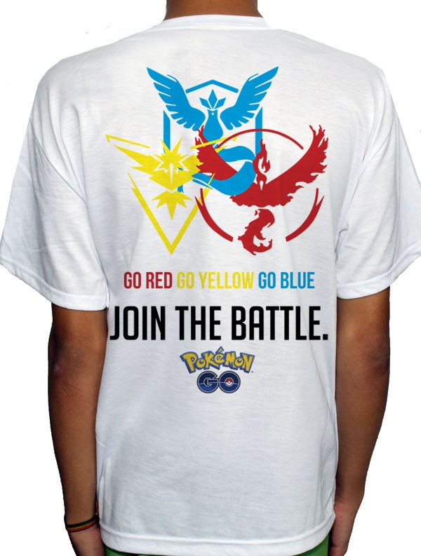 Camisa SB - JOIN THE BATTLE - Pokemon GO