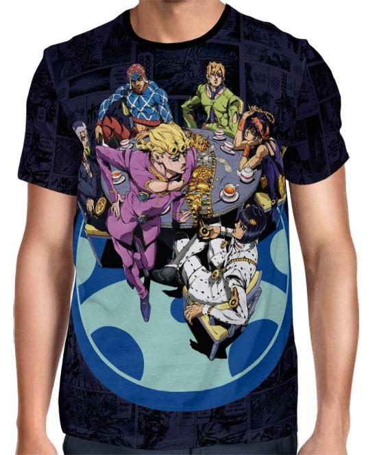 Camisa Mangá Jojo's Bizarre Adventure - Golden Wing - Modelo 2 - Full Print