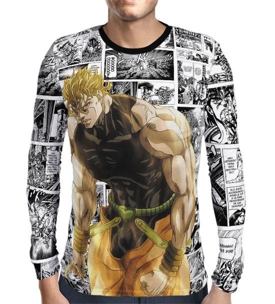 Camisa Manga Longa Print Mangá Power Dio - Jojo's Bizarre Adventure